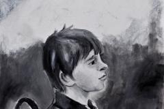 Portrait eines Jungen (Öl auf Karton, 33 x 45 cm)